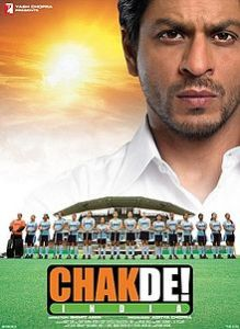 CHAK DE INDIA 2007 Hindi-language Indian sports drama film.  Depicting the pride & honor of a sportsman. How he loses it all & earns it back supporting the underestimated female hockey team making then bag the world cup. If you want to awaken your soul for the country, for women, for sportsman spirit grab a copy & watch this movie today.