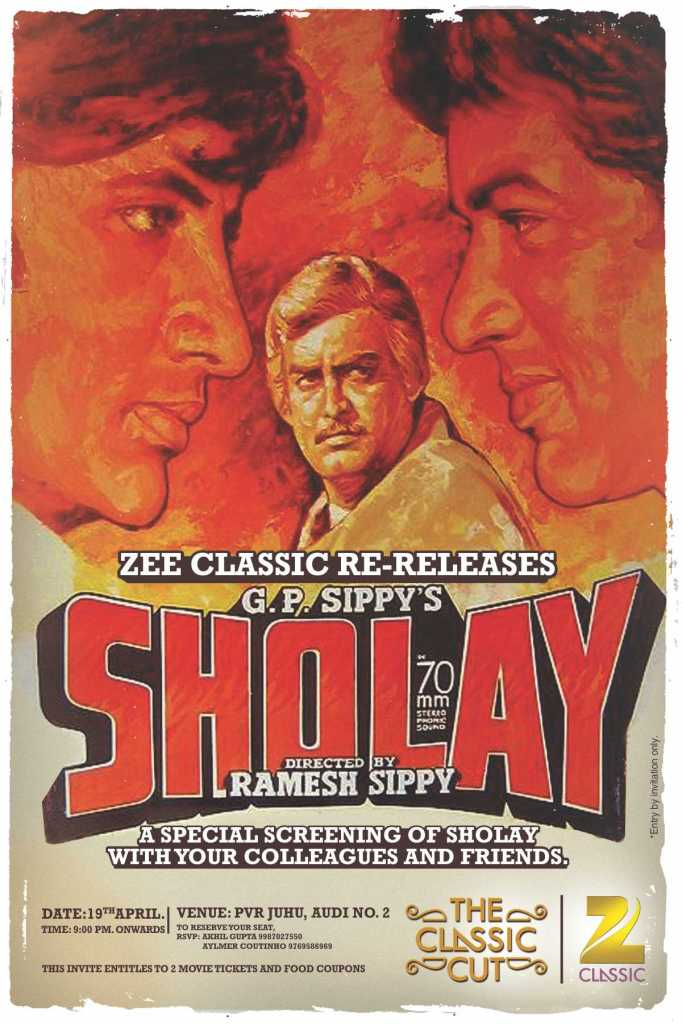 SHOLAY 1975 Hindi action-adventure film with its own set of laughter punches. Short story sweet - Restoring friendship bonds, love affairs & relationships since ever. What you haven't watched SHOLAY yet??? You are not an INDIAN you filthy trespasser ;) :P