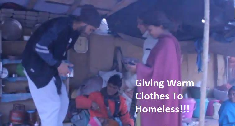 Giving Warm Clothes to Homeless - [Share For Cause]