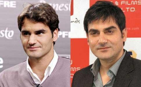 Federer & Arbaaz Khan