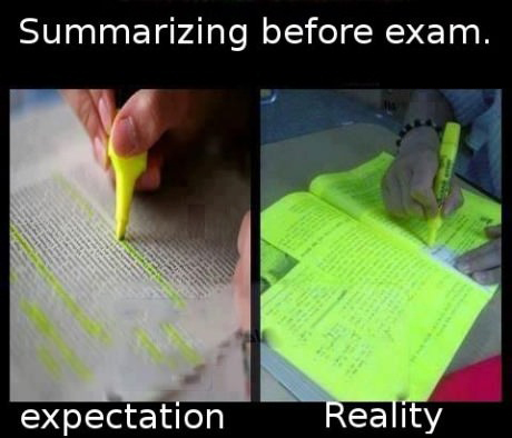 Summarizing-expectation-vs-reality
