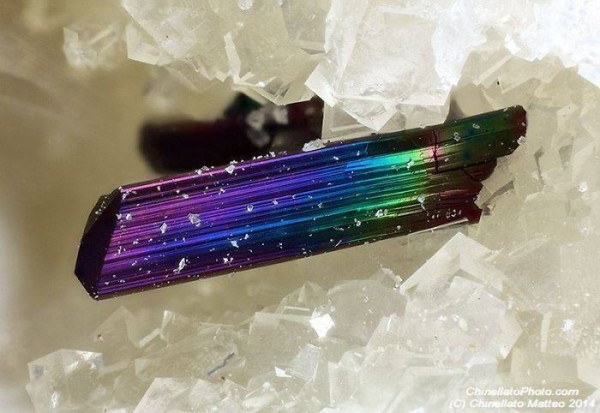 Multicolor Rutile Crystal