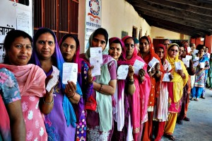 Voting during 8th phase of Parliamentary election...epa04194527