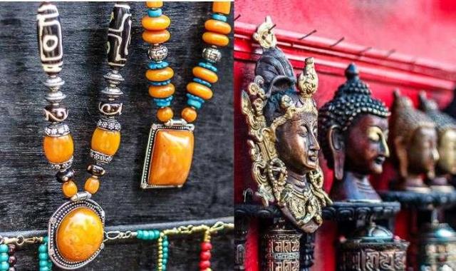 Tibetan handicrafts at Mcleodganj