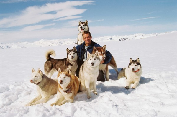 Paul Walker with dogs.    ©2006 Buena Vista Pictures Distribution and Winking Productions GmbH & Co. KG