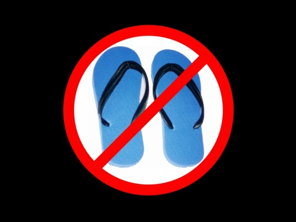 no-flip-flops
