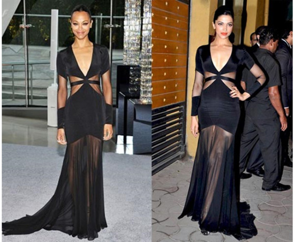 1-DEEPIKA PADUKONE AND ZOE SALDANA IN PRABAL GURUNG