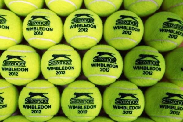 A view of WImbledon 2012 tennis balls