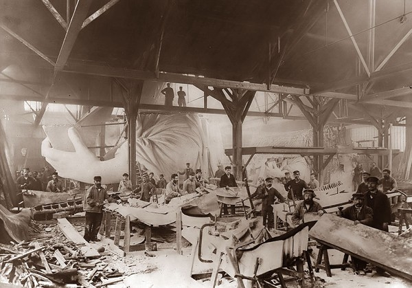 Construction Of The Statue Of Liberty (1884)