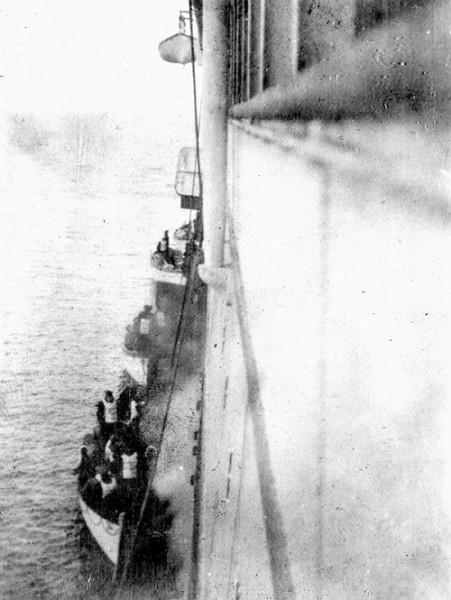 Titanic Survivors Boarding The RMS Carpathia (1912)