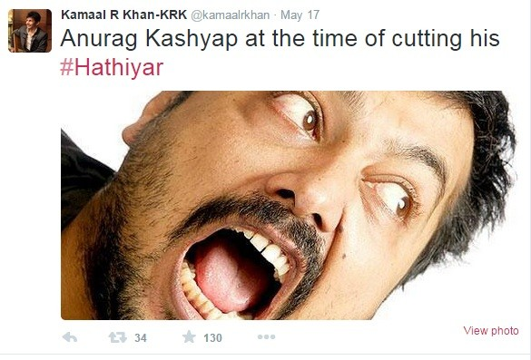 KRK mocking Anurag Kashyap over twitter after his movie didn't do well.
