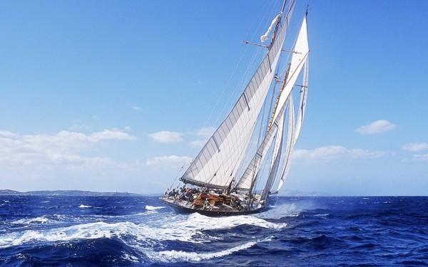 ocean boats sailing ships sea_www.wall321.com_45