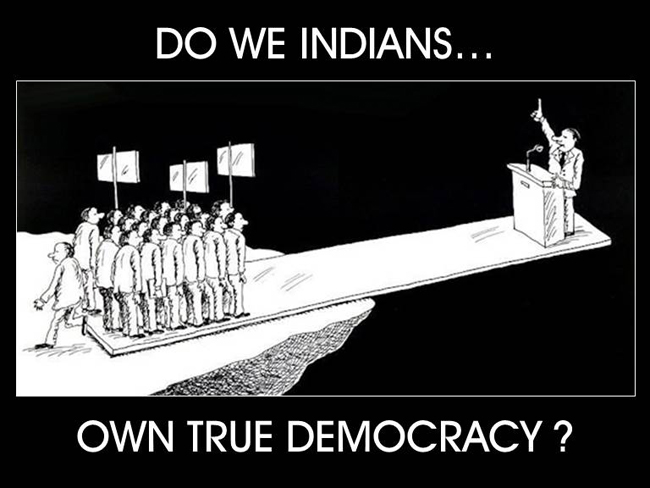 indian democracy is devoid of democratic Democracy in india - the state-institutional domain we propose to look at some of the institutional features of indian democracy democratic citizenship is.