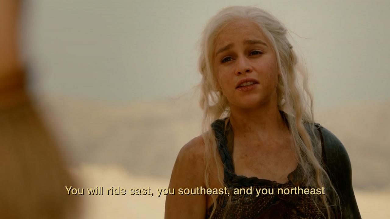 Dothraki game of thrones subtitles text