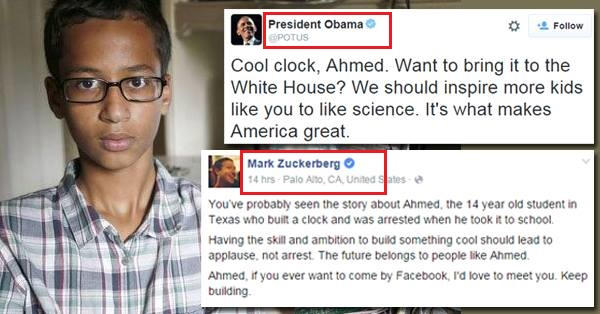 14-Year US Muslim Grabbed Attention Of Obama, Zuckerberg ...  Obama