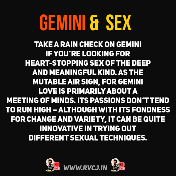 gemini man and sexuality