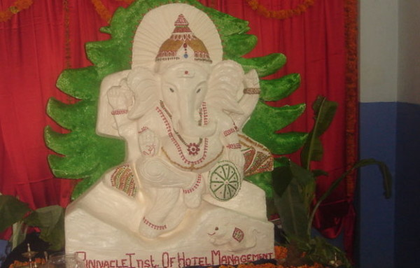 Lord Ganesha made completely of butter