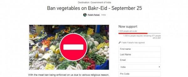 Vegetable ban