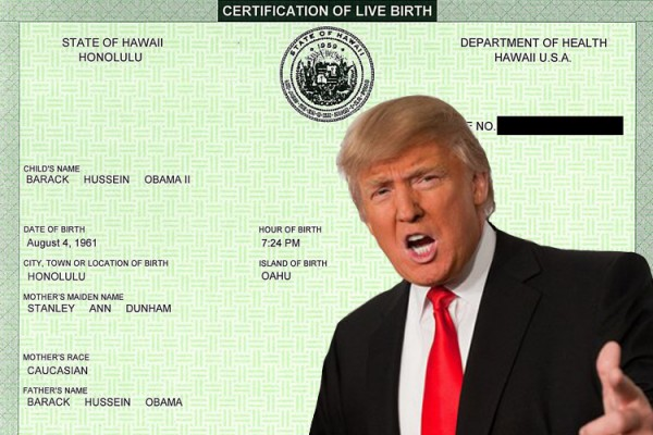 donald birther movement