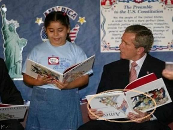 george-w-bush-upside-down-book