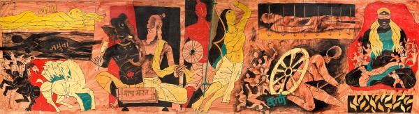24-mahabharata-expensive-mf-hussain-painting