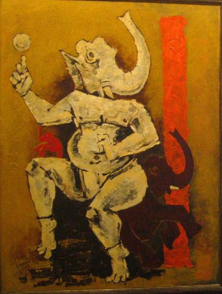 25-ganesha-mf-husain-painting