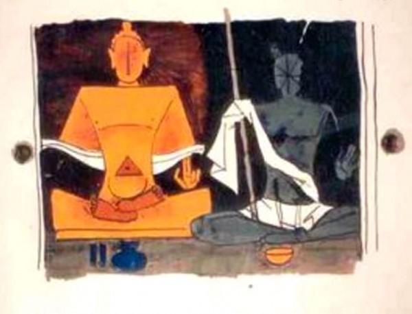 gandhi and buddha