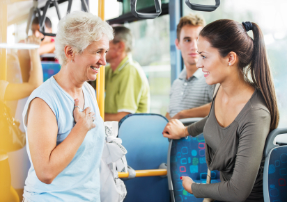 Mature woman thanking a young girl for giving her seat up for her. [url=http://www.istockphoto.com/search/lightbox/9786738][img]http://dl.dropbox.com/u/40117171/group.jpg[/img][/url]