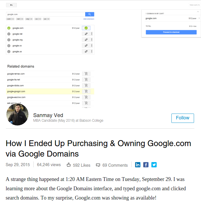 OMG! This Indian Man Bought Google Com For Just Rs  788