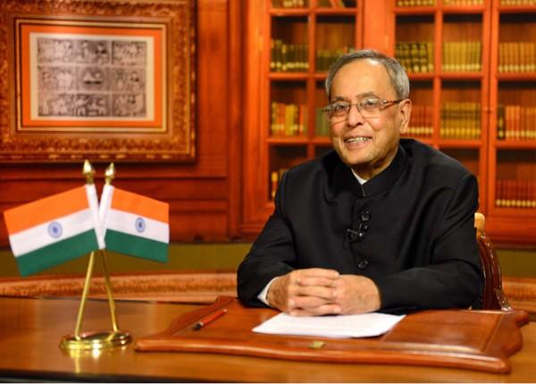 NEW DELHI, AUG 14 (UNI):- President Pranab Mukherjee addressing the Nation on the eve of 68th Independence Day, in New Delhi on Thursday. UNI PHOTO-121U