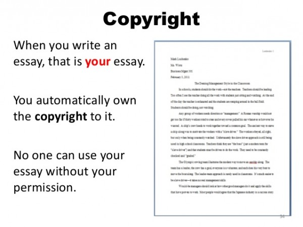 Essay about copyright