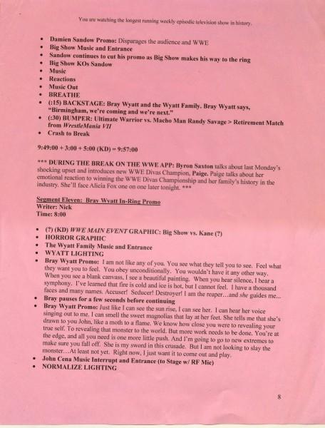 WWE Script 2