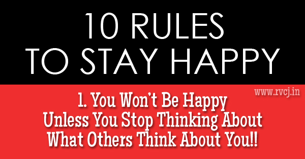 Want know how be happy stop caring