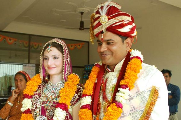 Maria arbatova and indian husbands wedding