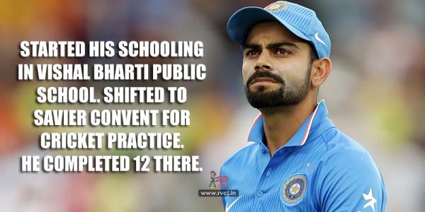 Educational Qualification Of Indian Cricketers Virat Kohli