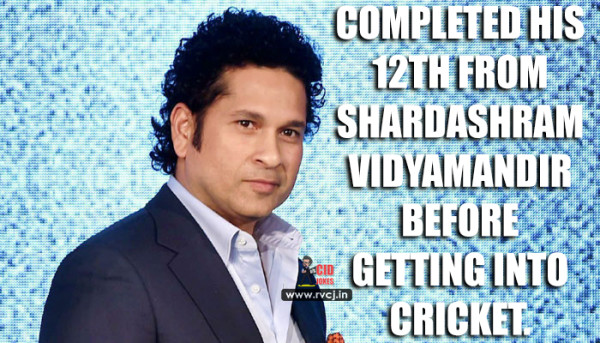 Educational Qualification Of Indian Cricketers Sachin