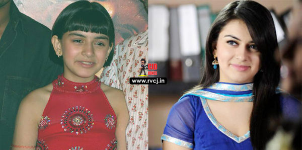 Bollywood Child Artists Then And Now Hansika