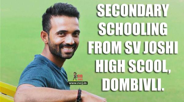 Educational Qualification Of Indian Cricketers Ajinkya Rhane