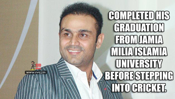Educational Qualification Of Indian Cricketers sehwag