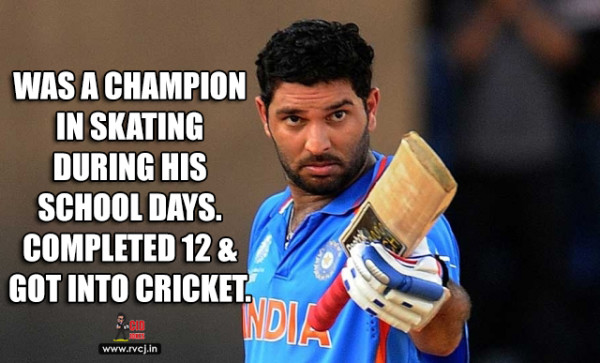 Educational Qualifications Of Indian Cricketers yuvraj
