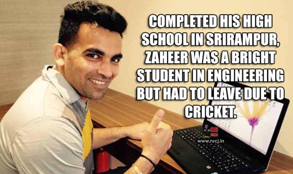 Educational Qualification Of Indian Cricketers zaheer