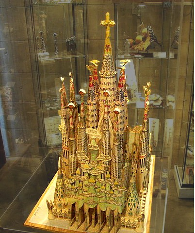 model of the completed church
