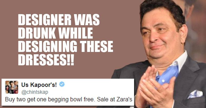 c85b10ac 'Zara' Will Hate Rishi Kapoor For What He Tweeted About Them! You'll Find  It Hilarious! - RVCJ Media