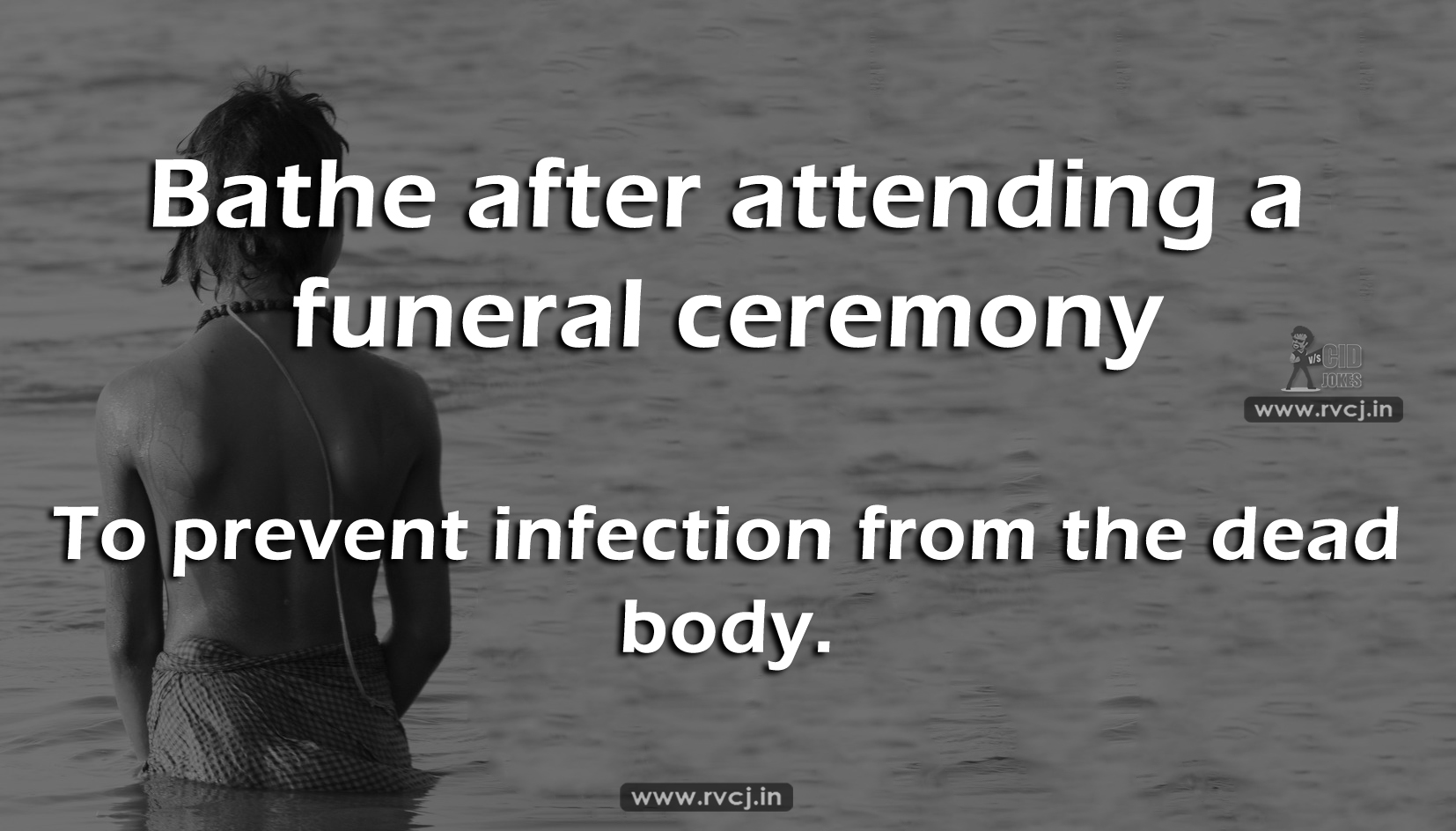Image result for why bath after funeral