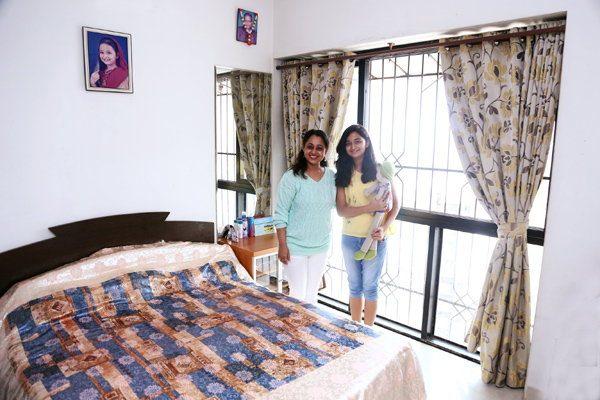 bedroom of sonaliks's daughter aarya