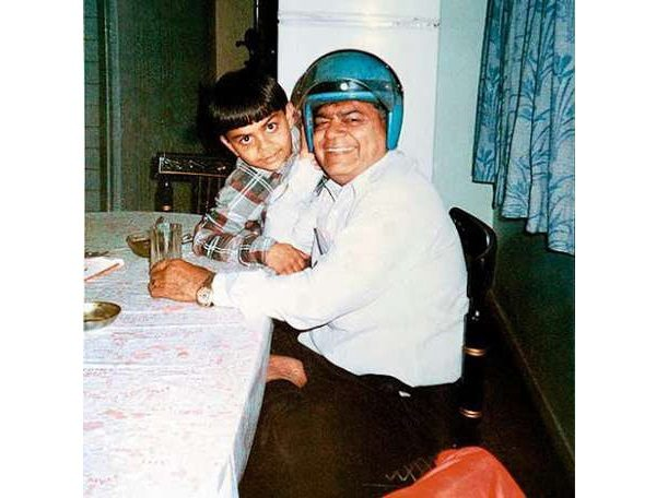 Virat with his father
