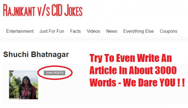 Shuchi Bhatnagar Author at Rajnikant V s CID Jokes