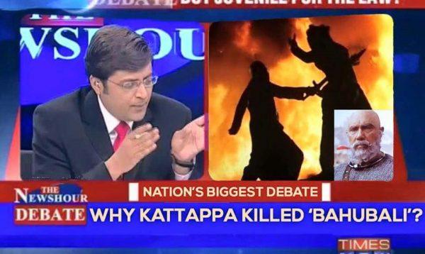 katappa and arnab goswami on timesnow