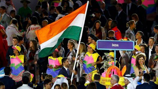 Abhinav Bindra Holding Indian Flag