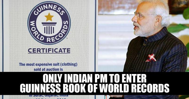 guinness book of world records declares modi u0027s gold pinstriped